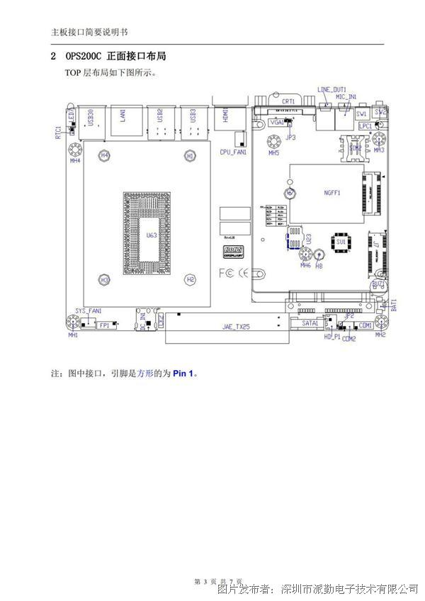 派勤工控ops电脑主板ops200c数据手册及产品说明书