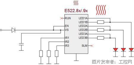 elmos还将带来lin自动寻址的单芯片rgb驱动方案e521.