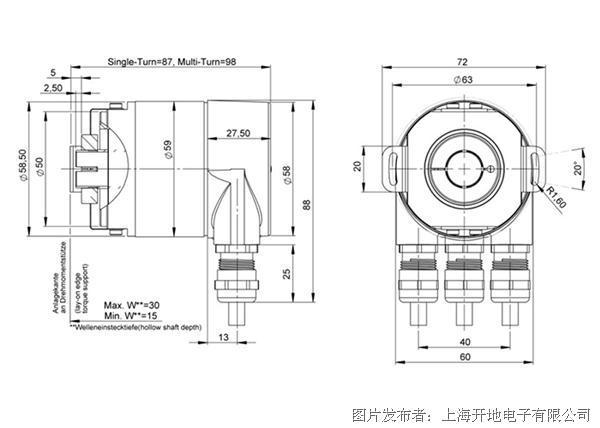 雷恩绝对值编码器RCM058技术图纸.png