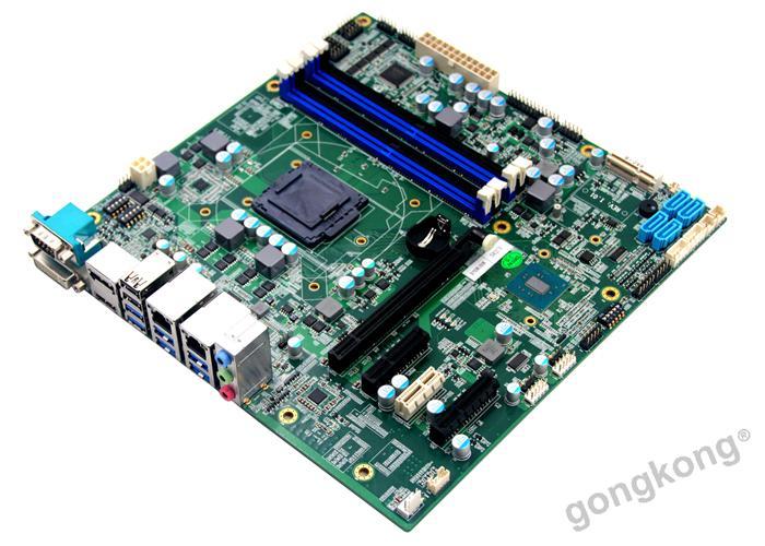 派勤工控ATX  PIMB-H110主板H110芯片1*pcie-x16 6COM口主板