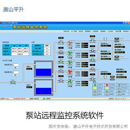 唐山平升泵站无人值守、无人值守泵站自动控制系统