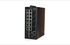 迈森 MS22M-4SSC-4GP-220VAC网管型导轨式工业级以太网交换机