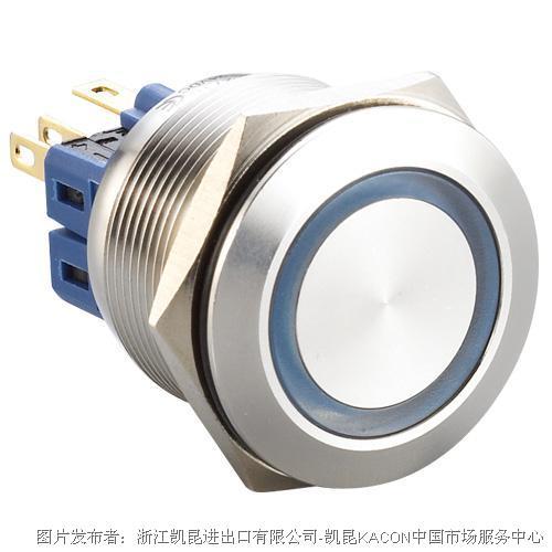 凯昆KACON T22-371CP防水金属按钮