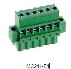 进联MC211 可插式 PCB 连接器, 带法兰插头