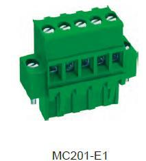 进联MC201 可插式 PCB 连接器, 带法兰插头