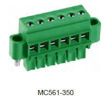 进联MC561 可插式 PCB 连接器,带法兰插头