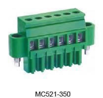 进联MC521 可插式 PCB 连接器,带法兰插头