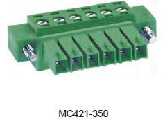 进联MC421 可插式 PCB 连接器, 带法兰插头