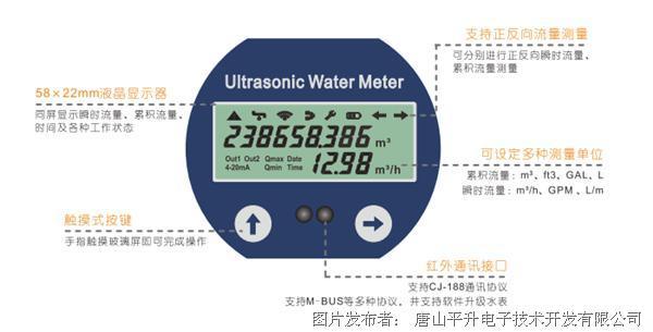 唐山平升 卡片式超声波流量计/超声波水表