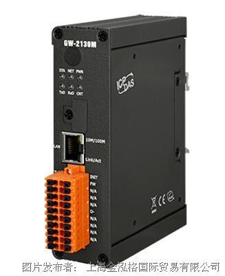 泓格BACnet MS/TP轉Modbus TCP網關 GW-2139M