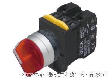 进联A204F照光选择开关90°-2位置/右复归型金属框标准旋鈕