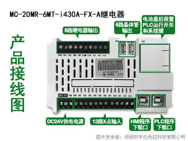 中達優控4.3寸鋁合金面板一體機MC-20MR-6MT-i430A-FX-A