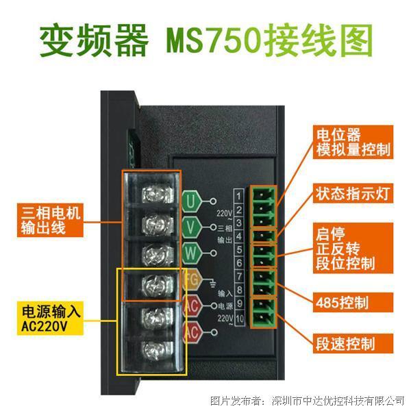 中达优控 MS750三相变频器