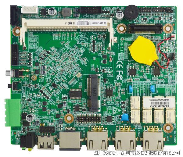控汇智能 ENS-6123网络安全工业级超低功耗主板