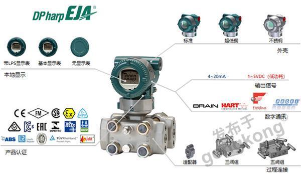 橫河川儀 EJA130E高靜壓差壓變送器