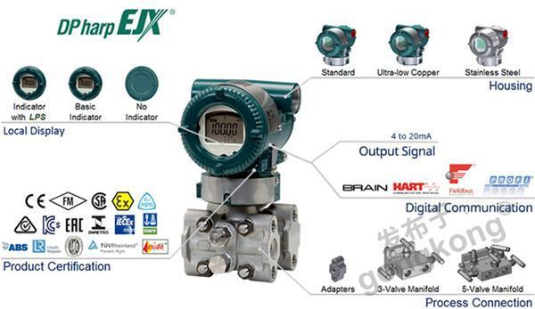 横河川仪 EJX310A绝对压力变送器