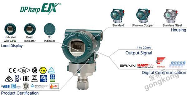 橫河川儀 EJX610A高性能絕對壓力變送器