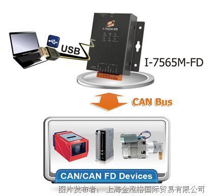 泓格USB转2口CAN/CAN FD总线转换器I-7565M-FD