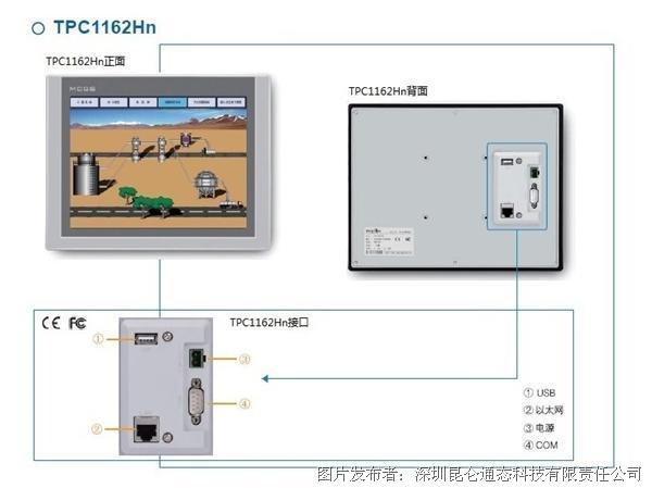 昆仑通态TPC1162Hn嵌入式一体化触摸屏