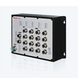 MIES-5816P 16GE M12/IP40 POE三层全千兆工业以太网交换机