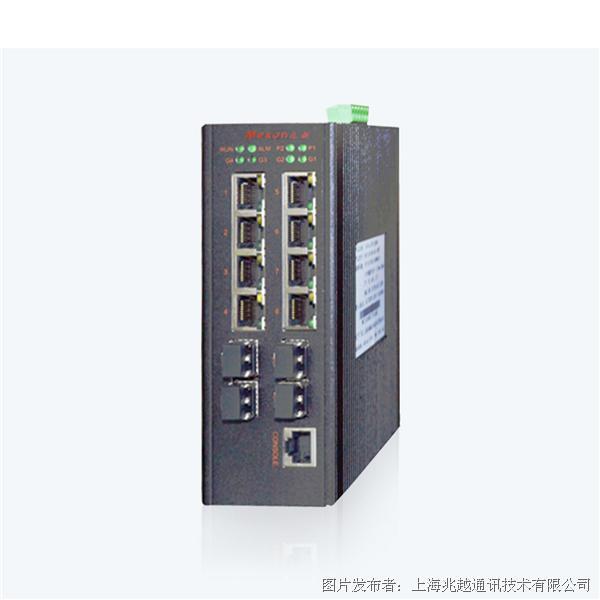 兆越MIE-2418-R4 串口卡轨式千兆网管型工业以太网交换机