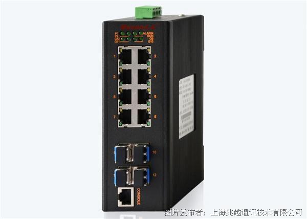 兆越MIE-2412M  卡轨式全千兆网管型工业以太网交换机
