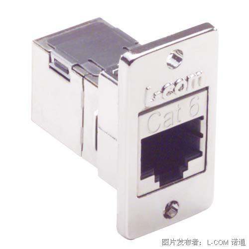6 类 屏蔽式 RJ45 (8x8) 优良型面板耦合器套件