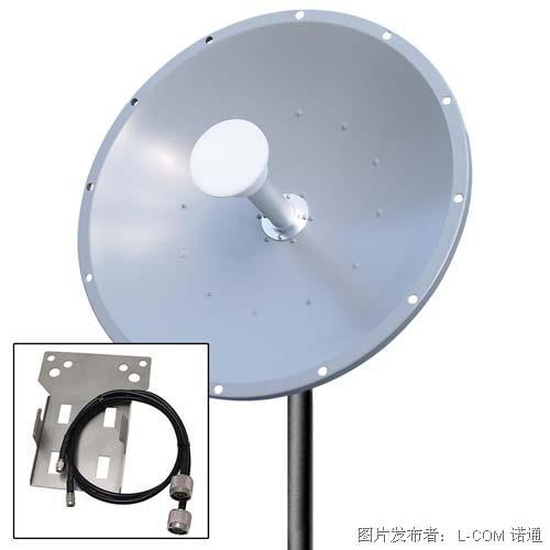 L-com诺通 5GHz 30dBi双极化MIMO抛物面天线