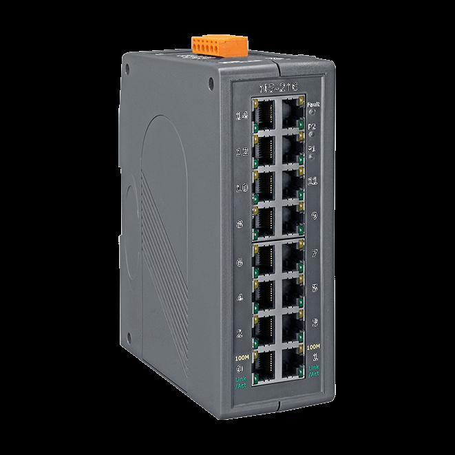泓格16口非管理型工业以太网络交换器NS-216