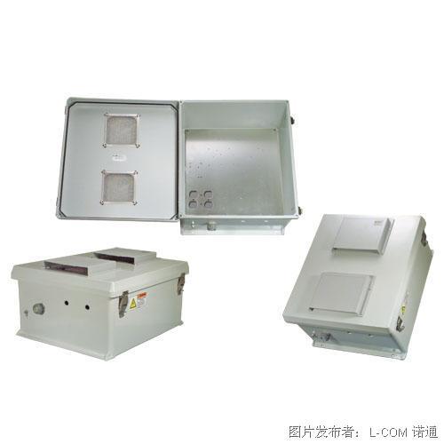 L-com諾通 NEMA級防風雨接線盒,開孔盒蓋,帶安裝板