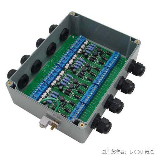 L-com诺通 防风雨高功率多端口10/100 Base-T5类避雷器