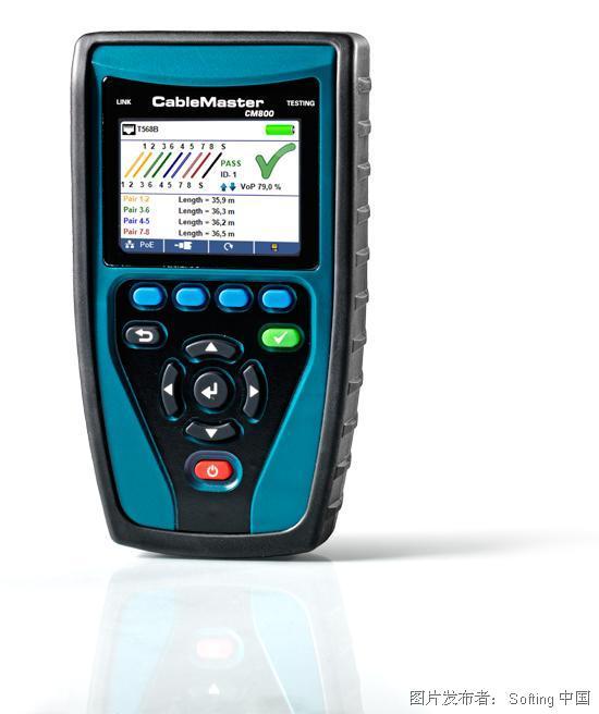 德国softing CableMaster 800/850 线缆测试仪和网络诊断工具