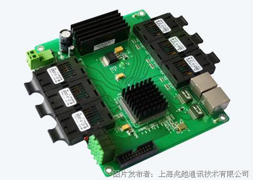 兆越 MIE-1608 6光2电嵌入式工业以太网交换机