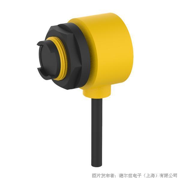 德尔兹DEUZE  90度发光短型M18塑料外壳圆柱型光电传感器