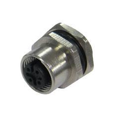 宜科 法兰插座连接器-M12孔座(F)