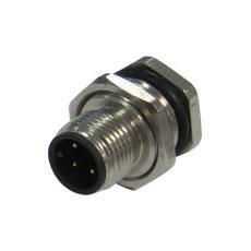 宜科 法兰插座连接器-M12针座(M)