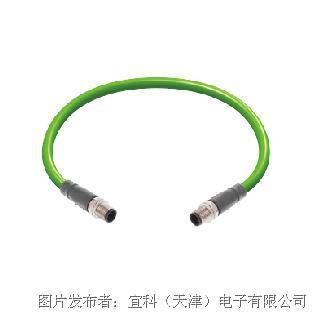 宜科预注自动化总线连接器ProfiNet M12/M12(针)双端预注电缆