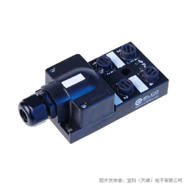 宜科 无源分线盒-塑料(ECP4系列M12接口-端子式现场接线型)