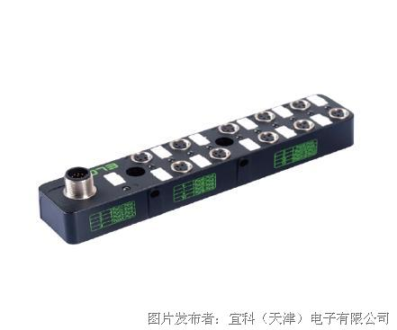 宜科 塑料分线盒ESP10系列M8接口-M12连接器式出线