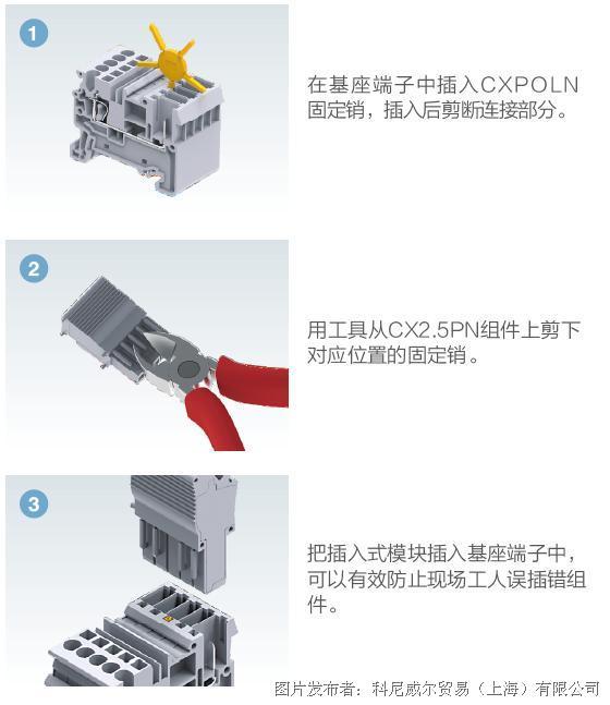 科尼威尔CX2.5/B插拔式接线端子
