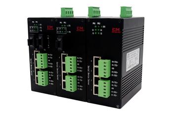 4路RS-485串口服务器4个百兆RJ45电口1个光口