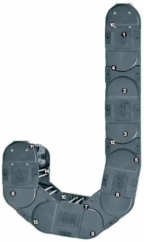 易格斯 E4.1系列-E4.350系列拖链