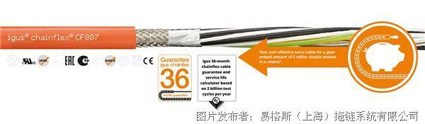 易格斯 新 chainflex® 伺服电缆-CF887