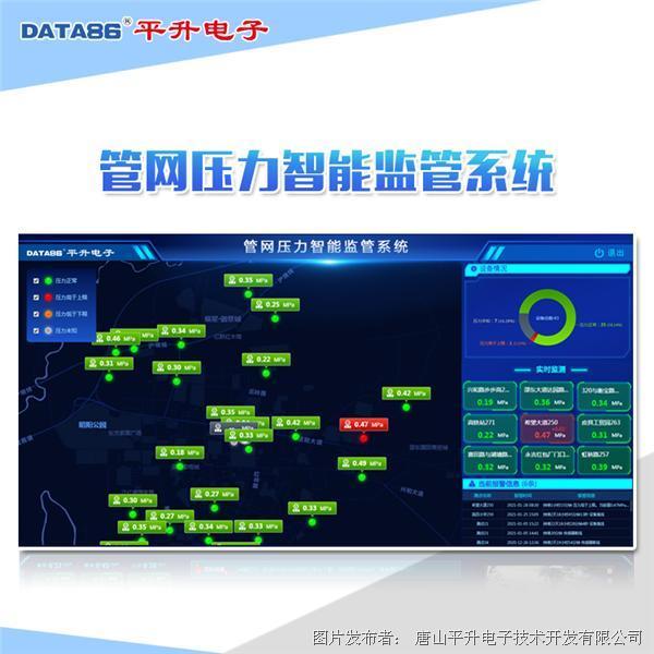 平升電子 智慧管網綜合監控平臺、管網信息化—智能化管網建設