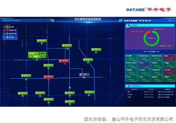 平升电子 排水管网综合管理智能平台、城市雨污管网监测系统