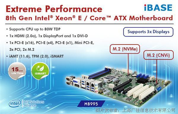 廣佳信息MB995-第八代Intel Core工業級ATX主板