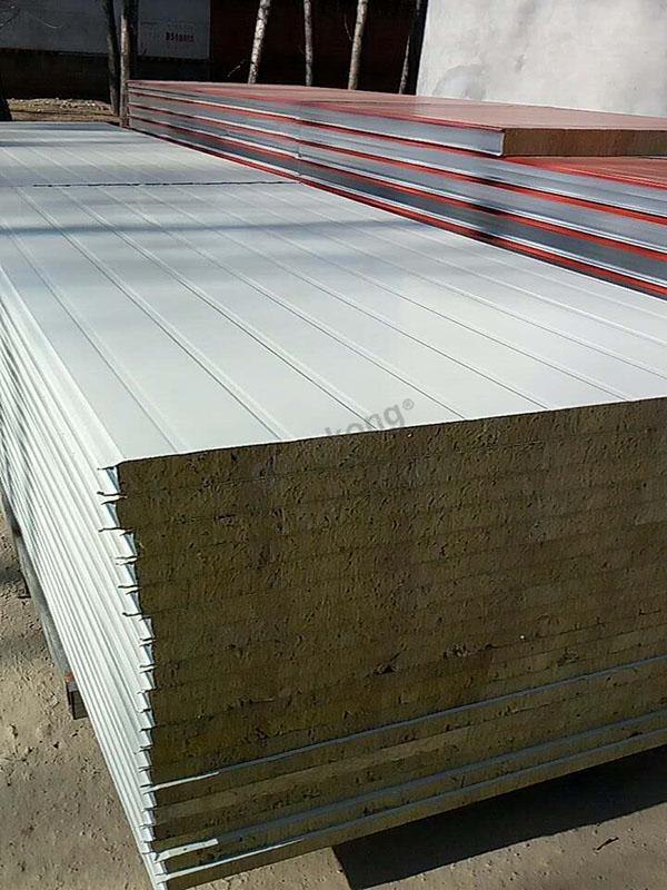 彩钢岩棉板,泡沫板 彩钢夹芯复合板的特点及应用领域