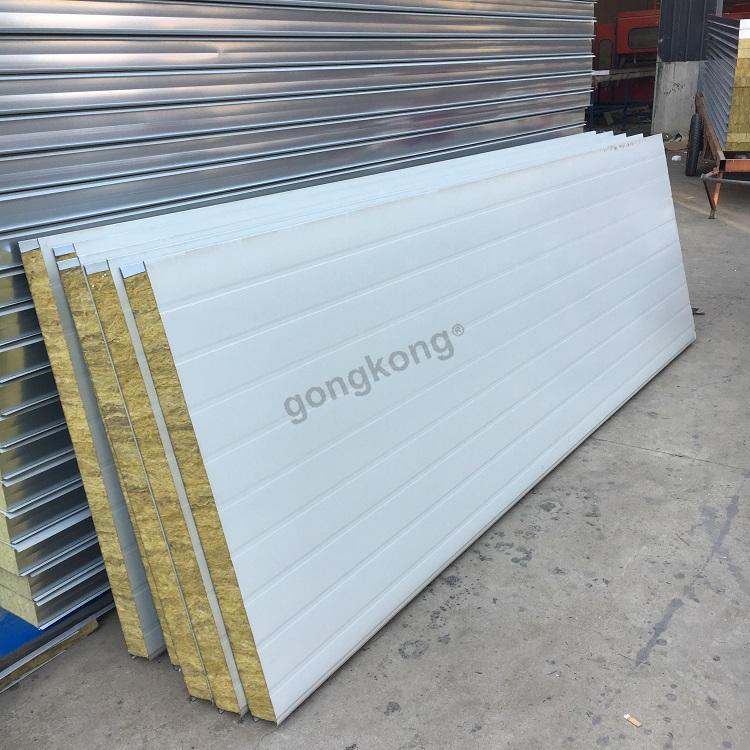 岩棉复合板 彩钢夹芯岩棉板的特点