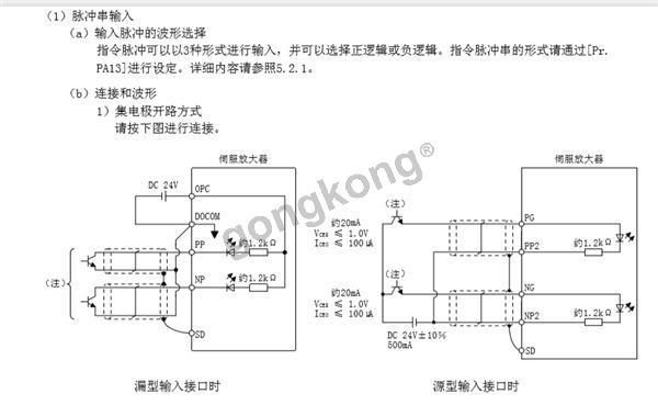 S7 1200PLC与三菱伺服的接线问题