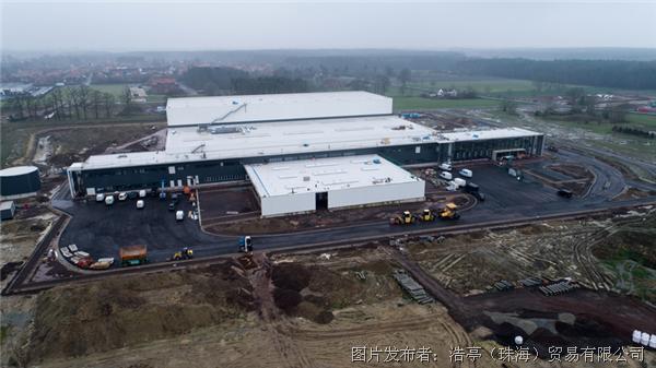 """浩亭""""欧洲配送中心""""(EDC)物流中心的施工进展迅速"""